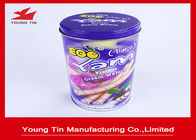 Egg Rolls Packaging Round Cylinder Gift Tin Box Custom Artwork CMYK Printed