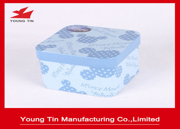 Metal Tinplate Type Candy Packaging Container Box Custom Logo Printed On Top