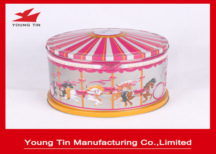 YT1276 Round Music Tin Box Metal Tinplate CMYK Offset Printing For Gifts Packaging